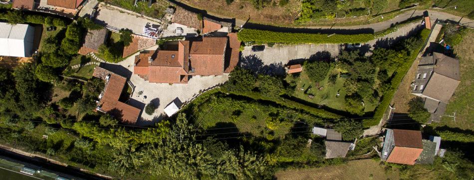 Casa Videira vista desde el aire.